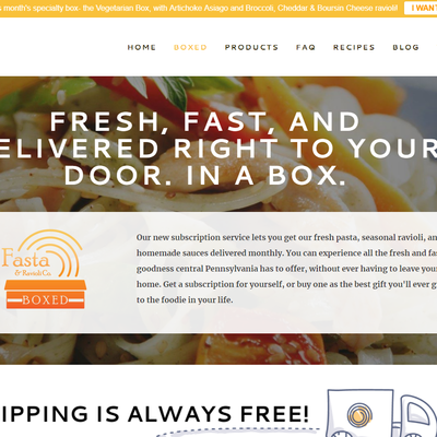 Fasta & Ravioli Co. website- click to visit